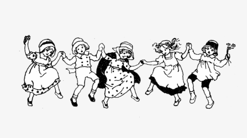 Children Dancing Clipart Black And White Hd Png Download Kindpng