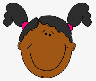 Little Girl with Pigtails Clip Art - Little Girl with Pigtails Image
