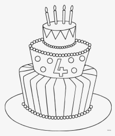 Maxresdefault How To Draw A Cake Coloring Birthday Easy Simple Cake Drawing Hd Png Download Kindpng