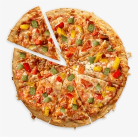 Aerial View Of A Cauliflower Crust Veggie Pizza Made Veg Pizza Hd Png Download Kindpng