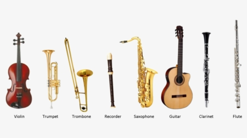 Musical Instrument Instrumental Music With Name, HD Png Download - kindpng