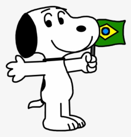 Snoopy With Brazil Flag - Snoopy In Brazil, HD Png Download ...