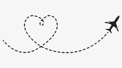 Freetoedit Airplane Travel Dash Dashline Dotted Line Heart