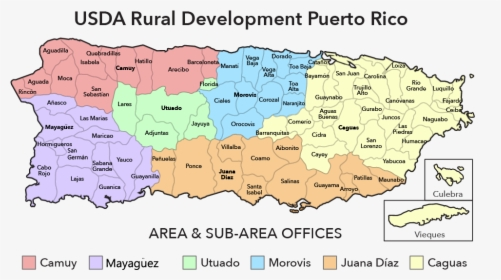 Puerto Rico Map - Puerto Rico States Map, HD Png Download ...
