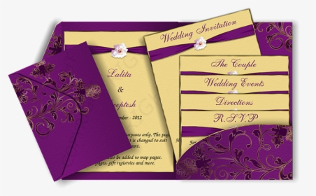 Modern Elegant Wedding Invitations Cards Indian Marriage Invitation Design Hd Png Download Kindpng