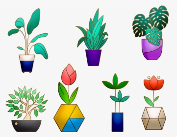Potted Plants Collection. Succulents And House Plants. Stock Vector -  Illustration of houseplant, green: 125111558