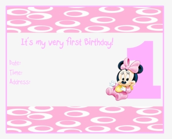 Baby Minnie Mouse 1st Birthday Party Alphabet Numbers Letras