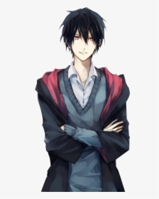 Male Black Hair Anime Characters Png Download Black Haired