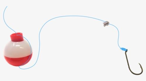 Download Basic Fishing Rig Live Bait Bobber Weight Sinker Hooks Put A Bobber On A Fishing Line Hd Png Download Kindpng