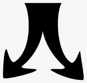Arrows Black Arrow Split Into Two Hd Png Download Kindpng