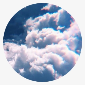 Clouds Circle Sunset Pink Background Aesthetic