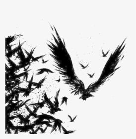 Common Raven Tattoo Drawing Odin Ravens Tattoo Design Hd