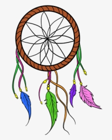 How To Draw A Dream Catcher Dream Catcher Drawing Simple Hd Png Download Kindpng