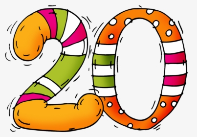 Png Of The Number - Number 20 Twenty Clipart, Transparent Png ...