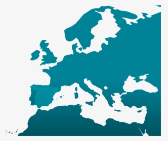 Blank Map Europe Middle East, HD Png Download - kindpng