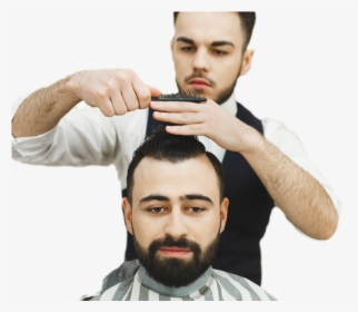 Men S Hair Cut Illustration Hd Png Download Kindpng