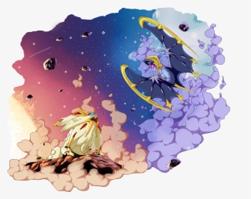 Solgaleo And Lunala Art Hd Png Download Kindpng