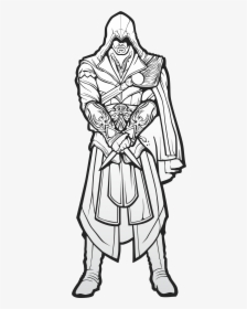 Ezio Assassin S Creed Drawings Hd Png Download Kindpng