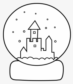 Winter Snow Globe Coloring Page coloring page & book for kids. | 280x244