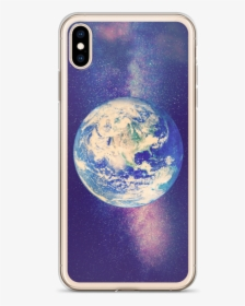 Earth And Galaxy Iphone Case For All Iphone Models Ios 11 Wallpaper Earth Hd Png Download Kindpng