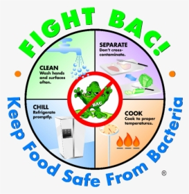 Fight Bac Food Safety Bacteria Hd Png Download Kindpng