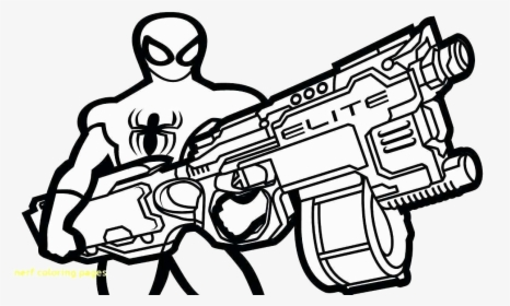 Nerf Gun Coloring Ideas Fabulous Pages Free Photo Transparent - Nerf Gun Coloring  Pages, HD Png Download - Kindpng