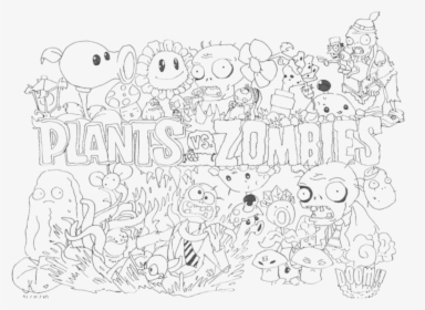 Plants Vs Zombies Coloring Pages Plants Vs Zombies 2 To Color Hd Png Download Kindpng