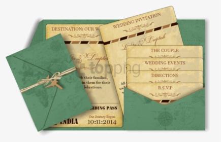 Pocket Style Email Indian Wedding Invitation Card Design