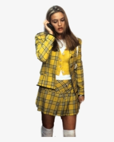 Image result for alicia silverstone clueless yellow outfit white background""