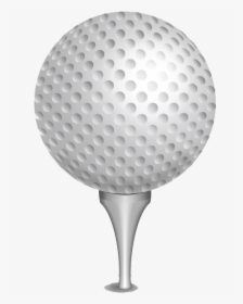 Golf Ball Clip Art Golf Ball On Tee Png Transparent Png Kindpng