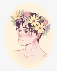 Flower Wreath Drawing Draw A Flower Crown Hd Png Download Kindpng