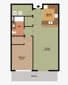 1 Bedroom Apartment Floor Plans With Dimensions Hd Png Download Kindpng