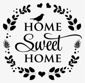Home Sweet Home Wreath Svg Cut File Calligraphy Hd Png Download Kindpng