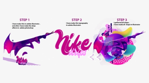 Nike Drips On Behance Jpg Library Dripping Nike Logo Png Transparent Png Kindpng