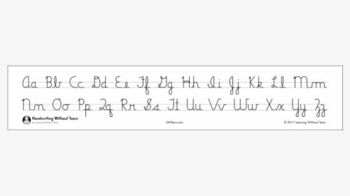 Free Printable Cursive Alphabet Flash Cards - Cursive Alphabet Flash In  Cursive, HD Png Download - Kindpng