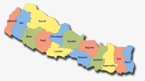 Nepal Map - Map Of Nepal Transparent, HD Png Download - kindpng