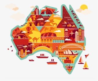 Australian Animated Map Ausvisto - Australia Cartoon Map, HD ...