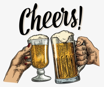 Transparent Beer Cheers Clipart Black And White - Beer Cheers Png  (#5604911) - PinClipart