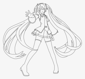 Cute Anime Girl Coloring Pages - Transparent Anime Line Art, HD ... | 280x299