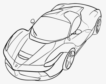 Easily How To Draw Ferrari Car, HD Png Download , kindpng