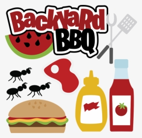 Picnic Clipart Barbecue Party - Family Bbq Clipart, HD Png Download -  kindpng