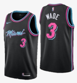 Image Of Dwayne Wade Miami Heat Vice City Edition Jersey Basketball Jersey Miami Heat Hd Png Download Kindpng