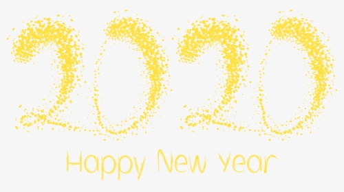 2020 Yelow Happy New Year Png Clipart Image New Year 2020