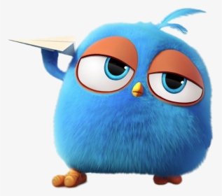 Angry Bird Blue Flying Paper Plane Angry Birds Blues Hd Png Download Kindpng