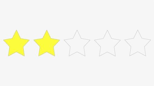 Two Star Rating Png Transparent Png Kindpng