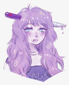 Image Unavailable Anime Aesthetic Girl Purple Hd Png Download Kindpng