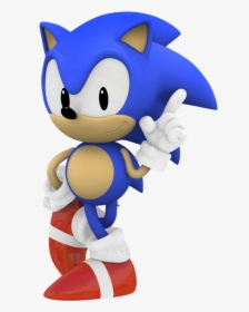 Classic Sonic No Background Hd Png Download Kindpng