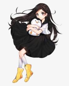 Anime Black Hair Brown Eyes Hd Png Download Kindpng