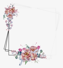 watercolor floral flower frame png image frame floral transparent background png download kindpng watercolor floral flower frame png