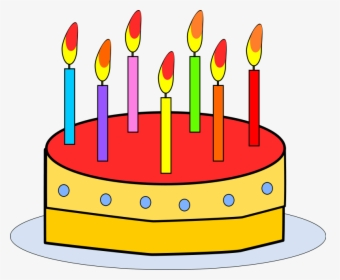 Slice Cake Candle Happy Cartoon Pink Free Birthday Cake Clip Art Free Hd Png Download Kindpng